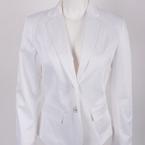 New York & Co White Blazer Suit Jacket sz 2 NWT
